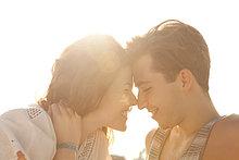 Zärtlich junges paar, portrait
