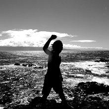 Silhouette ,Küste ,weiß ,schwarz ,Maui