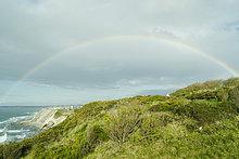 Frankreich ,Steilküste ,Regenbogen