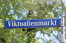 Altes Straßenschild Viktualienmarkt