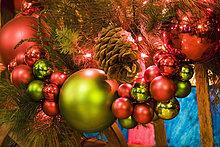 beleuchtet,Baum,Close-up,Weihnachten,Dekoration