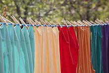 Kleidung,hängen,bunt,Close-up,Wäscheleine,Alberta,Calgary,Kanada
