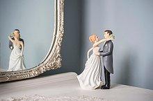 Wand ,Hochzeit ,Figur ,Spiegel