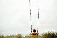 schaukeln, schaukelnd, schaukelt, schwingen, schwingt,schwingend ,Strand ,Schaukel