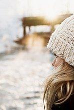 Frau ,Mittelpunkt ,Erwachsener ,Schnee