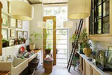 Glas,Tür,Küche,Ländliches Motiv,ländliche Motive