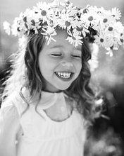 Blume,lächeln,Blumenkranz,Kranz,Mädchen