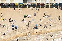 Hütte,Strand,Urlaub,Ansicht,Victoria,Luftbild,Fernsehantenne,Australien,Brighton,Melbourne