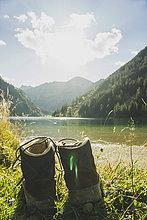 Berg,Stiefel,See,wandern,Österreich,Tirol