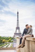 nahe,Europäer,küssen,Eiffelturm