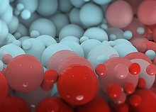 Nahaufnahme roter und blauer Bälle