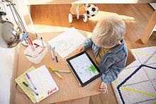 Junge - Person,klein,Zeichnung,Tablet PC