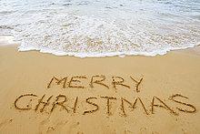 Vereinigte Staaten von Amerika,USA,Fröhlichkeit,Strand,Weihnachten,Sand,Zeichnung,Hawaii,Maui