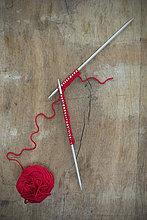 Holz,rot,Ball Spielzeug,stricken,Wolle