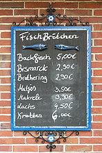 Fisch,Pisces,Vielfalt,Sandwich,Preis,Schreibtafel,Tafel,Deutschland,Spiekeroog