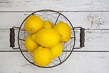 Korb,Metalldraht,Zitrone