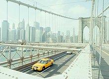 Vereinigte Staaten von Amerika,USA,überqueren,gelb,Brücke,New York City,Taxi,Brooklyn