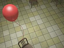 rot,binden,Ballonsport,3D rendering