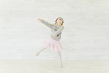 Wand,tanzen,Rock,weiß,pink,jung,Mädchen
