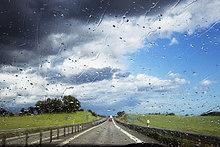 Scheibenwischer,nass,Fernverkehrsstraße,Skane län,Schweden
