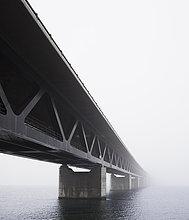 Brücke,Nebel,Skane län,Öresund,Malmö,Schweden