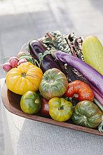 stehend,Frische,Gemüse,Tisch
