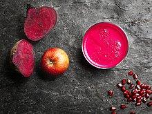 Dunkelheit,Frucht,über,Gemüse,Hintergrund,pink,rot,Ansicht,Saft,roh