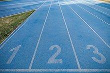 Spur,rennen,blau,Nummer