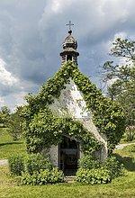 Hofkapelle oder Simandlkapelle von 1921, Ruhpolding, Oberbayern, Bayern, Deutschland, Europa