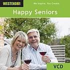 Ein fröhliches Seniorenpaar geniesst das Leben zu Hause und in der freien Natur: Spazierengehen, gemeinsam kochen, ein Glas Wein geniessen, Schach spielen,am Computer.