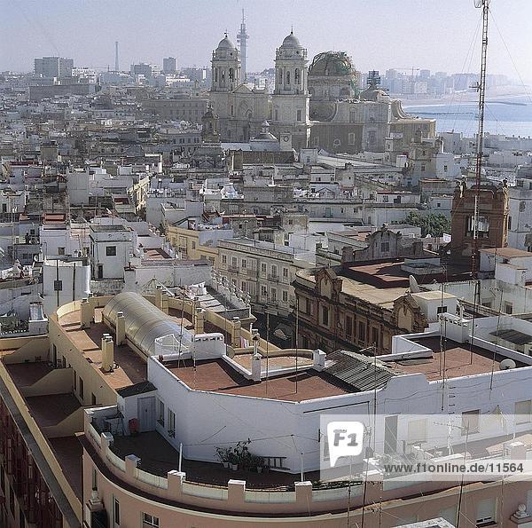 Buildings in city  Cadiz  Andalusia  Spain