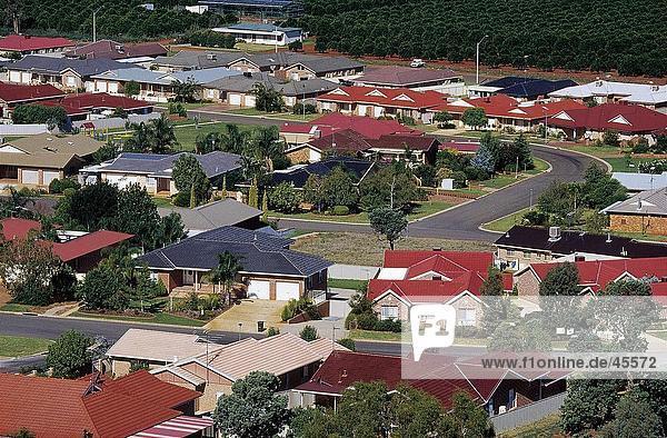 hoch oben Gebäude Stadt Ansicht Flachwinkelansicht Winkel Australien New South Wales