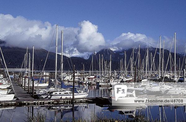 Boote am Jachthafen  Seward  Kenai  Alaska  USA