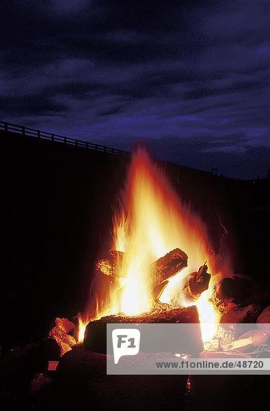 Nahaufnahme-Lagerfeuer