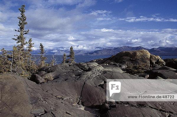 Felsen  Kluane National Park  Yukon  Kanada