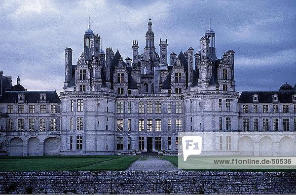 Fassade der Burg  Chambord  Loire-Tal  Frankreich