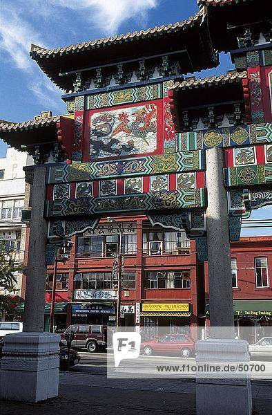 Buildings in town  Chinatown  Vancouver  British Columbia  Canada