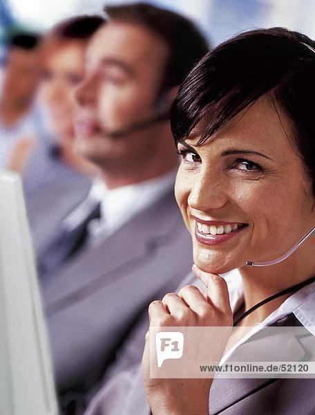 Menschen mit headset