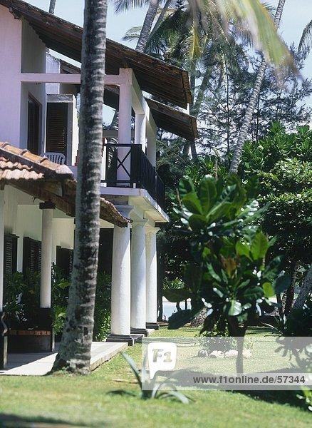 Fassade des Hotels  Sri Lanka