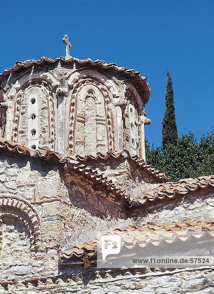 Kreuz am Turm der Kirche  Peloponnes  Mani  Griechenland