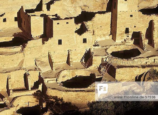Ruinen der historischen Adobe Gebäude  Anasazi Ruinen  Mesa Verde National Park  Colorado  USA