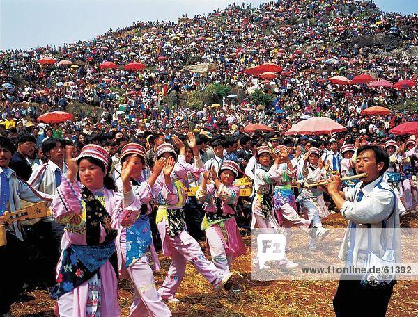 China  Yunnan  dritten Monat Fair von Bai ethnic