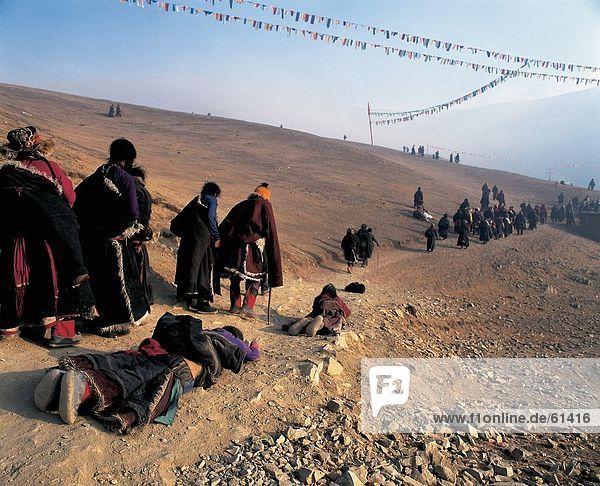 China  Sichuan Tibetan pilgrims