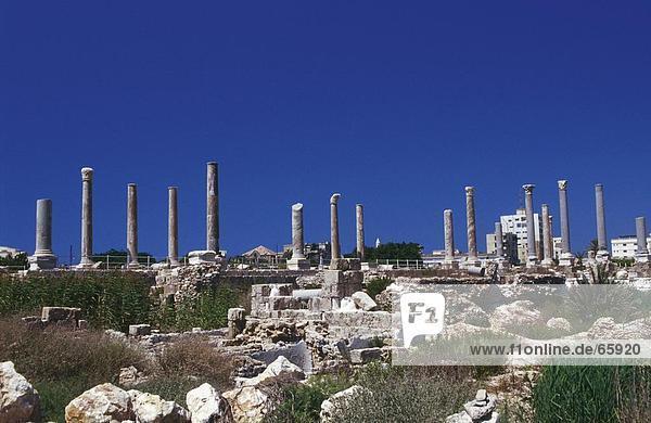Ruinen des antiken Gebäudes  Al Mina Ausgrabungsstätte  Tyre  Süd-Libanon  Libanon