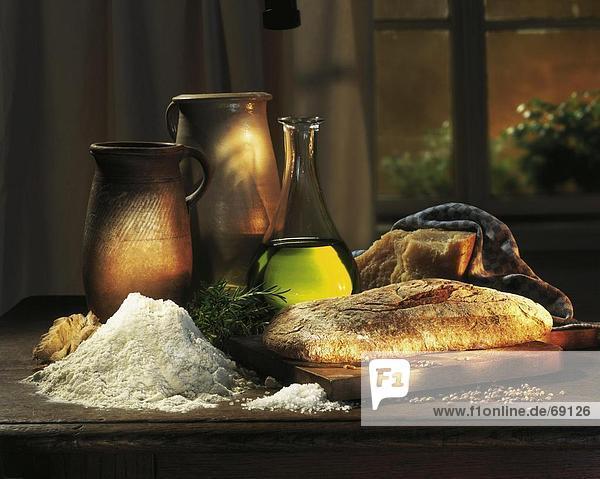 einsteigen Brot schneiden Brotlaib Close-up close-ups close up close ups