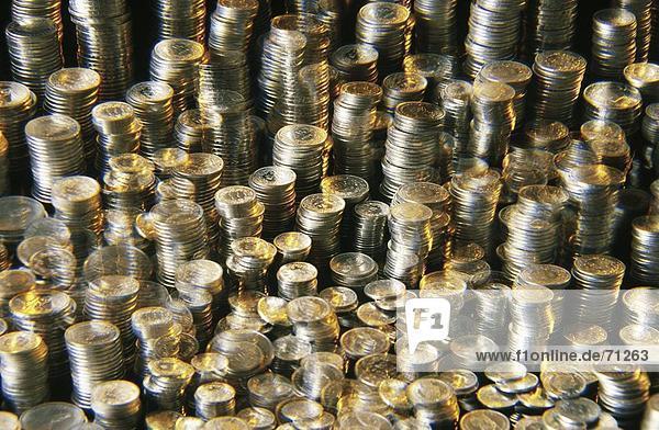 Europa Geld Münzen Schneiden Schweiz Schweizer Franken Teil