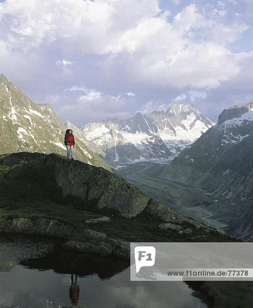 Berg Alpen Kanton Bern Bergsee Schweiz