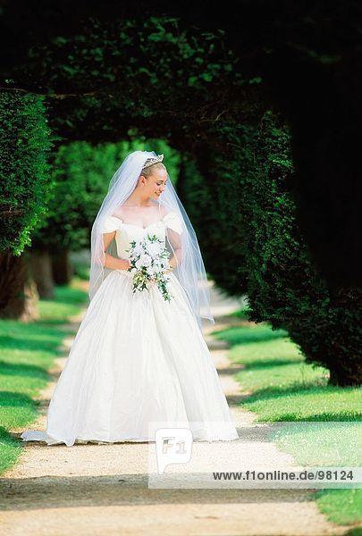 Anlass. Hochzeit. Braut. Im freien