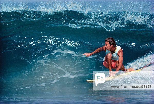 Sport & Erholung. Surfen. Mann
