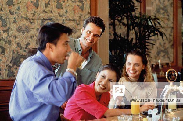 Group. bar. Drinking
